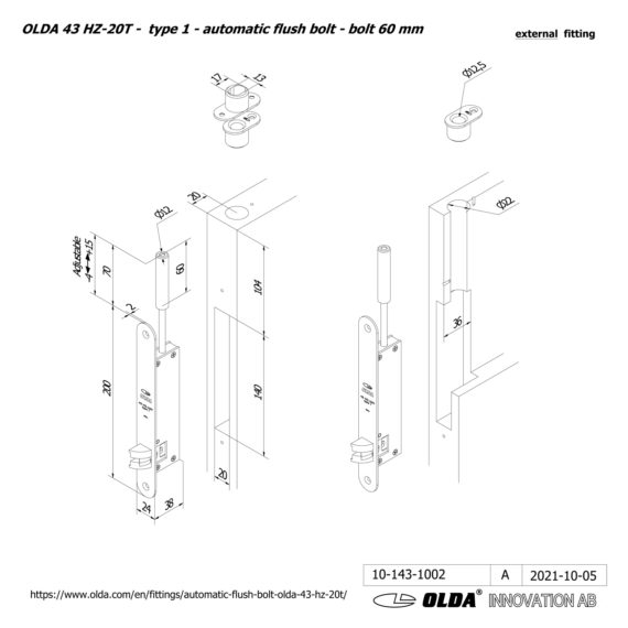 OLDA-43-HZA-20T-t1-bolt-60-DIM-ext-JPG